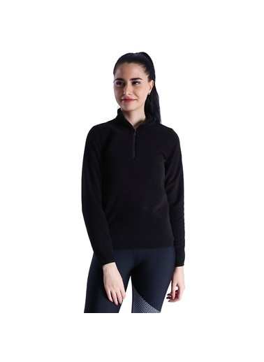 Sportive Polar Sweatshirt Siyah